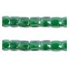 3 Cutbead Transparent Luster Green 10/0 Strung